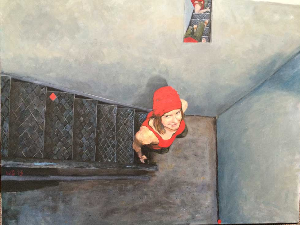 """Der Blick"", Acryl auf Leinwand, 80x100, 2013"