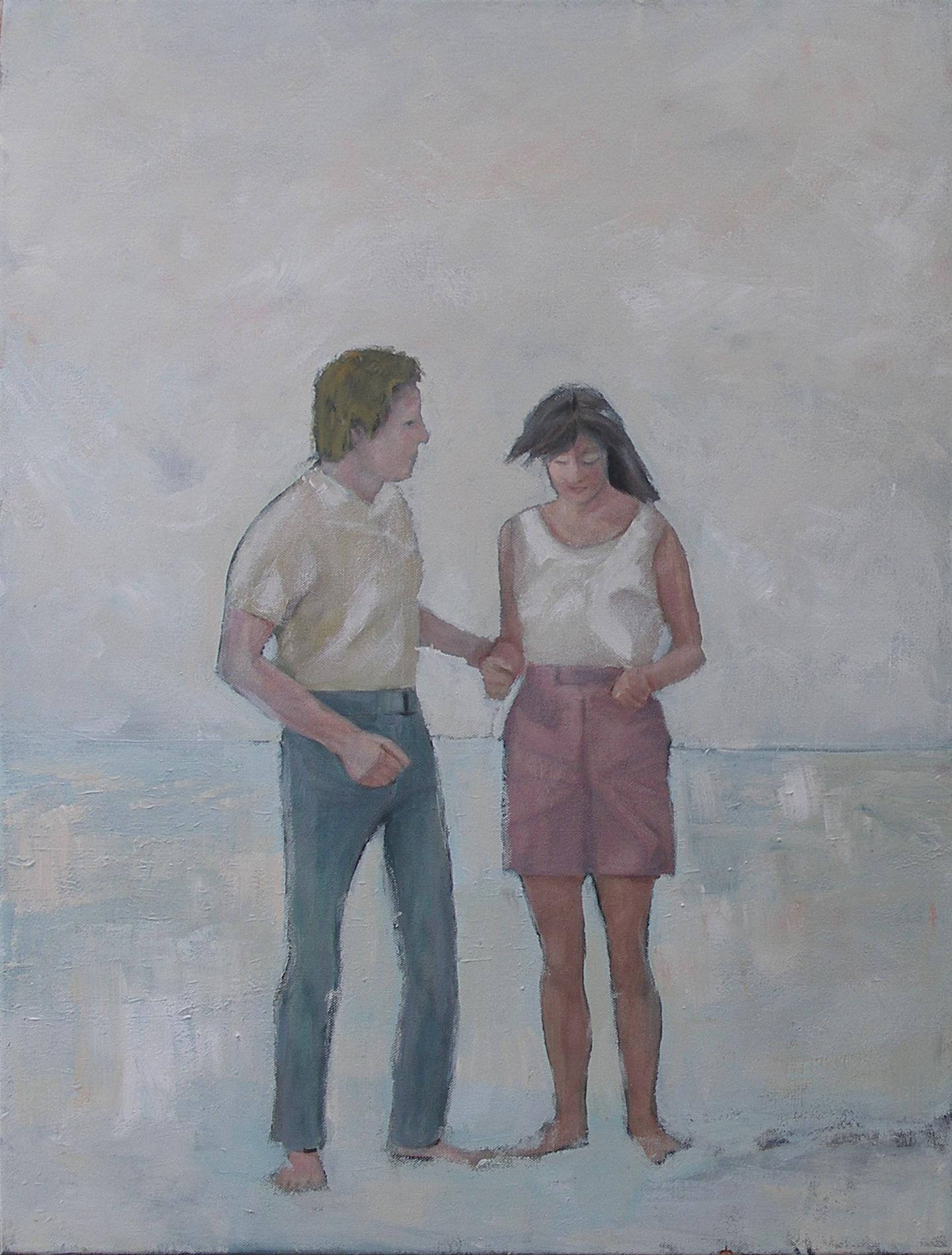 """""""Am Strand"""", Acryl auf Baumwolle, 80x60, 2013"""