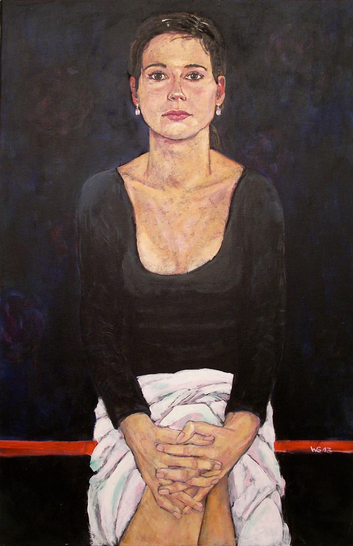 """""""Junge Frau"""", Acryl auf Baumwolle, 90x60, 2013"""