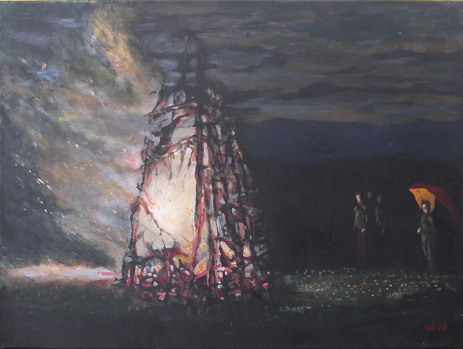 """""""Feuer"""", Acryl auf Leinwand, 60x80, 2008"""