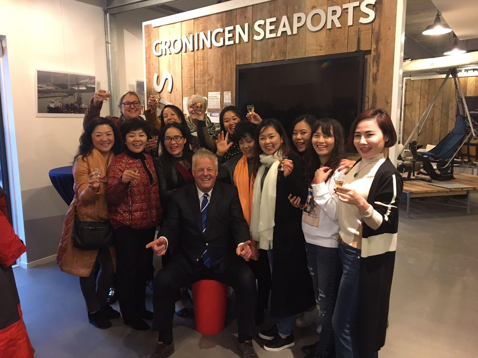 Ontvangst door Harm Post bij Groningen Seaports. Wat een feest!
