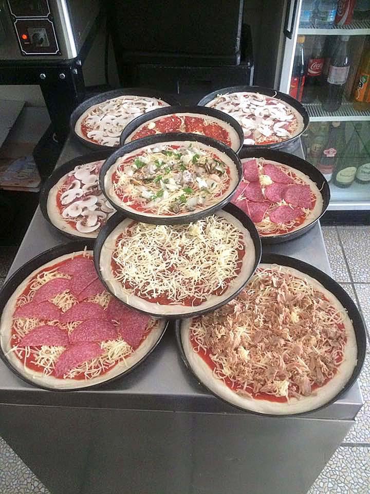 Pizza-Großbestellung