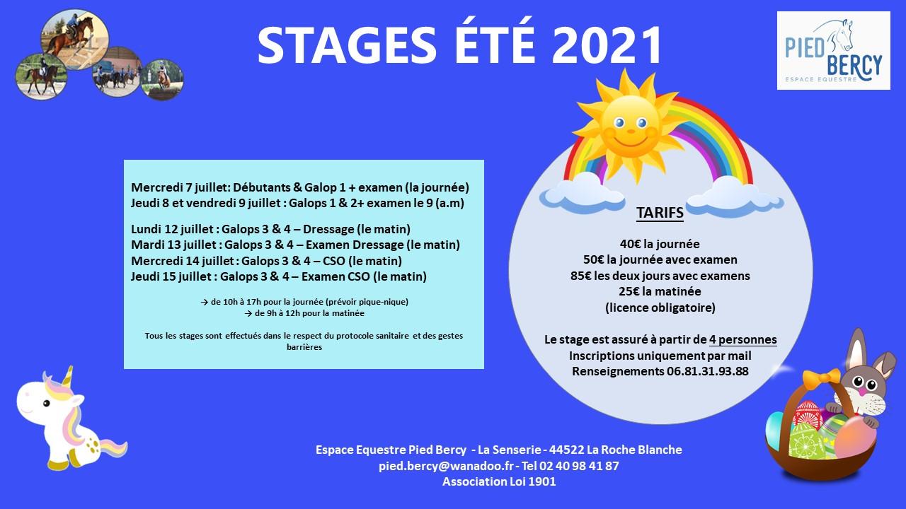 STAGES ÉTÉ 2021
