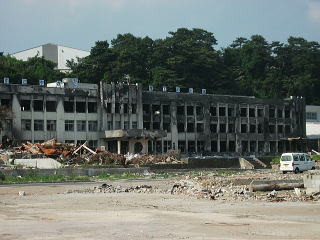 震災後の火災で消失した小学校