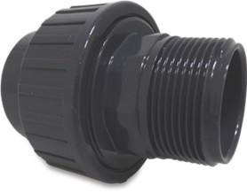 Klebemuffe PVC Verschraubung 90mm 3 teilig