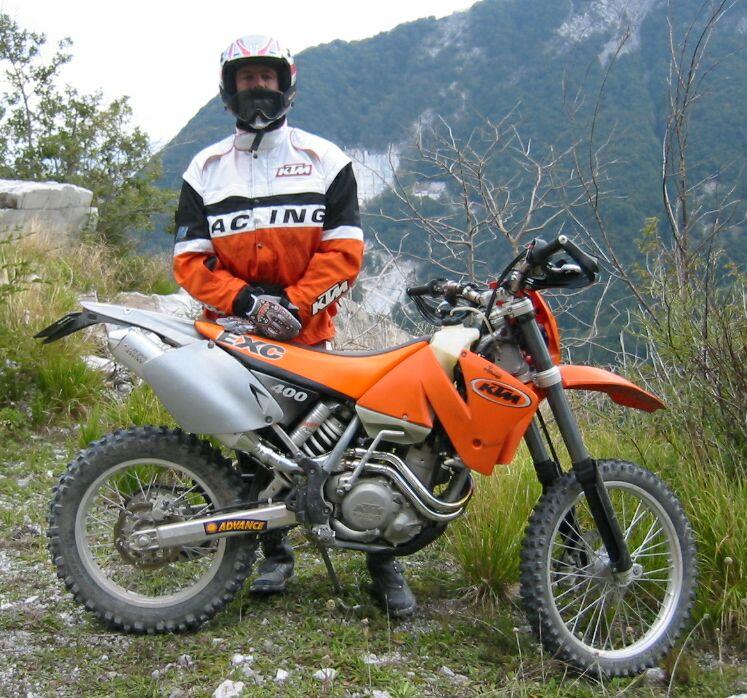 my KTM EXC 400 Racing, Jg 2001