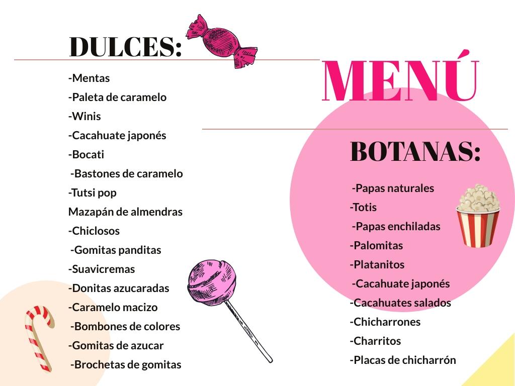 lista de dulces en cdmx