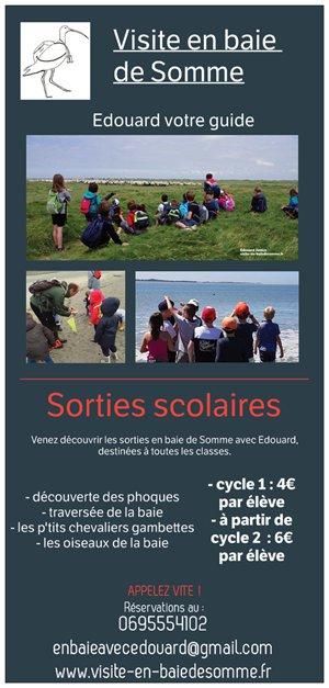 tarifs sorties scolaires en baie de Somme