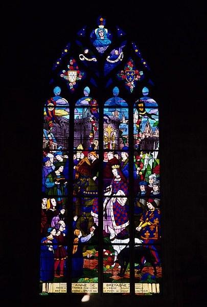 Vitrail de l'église Saint Sauveur
