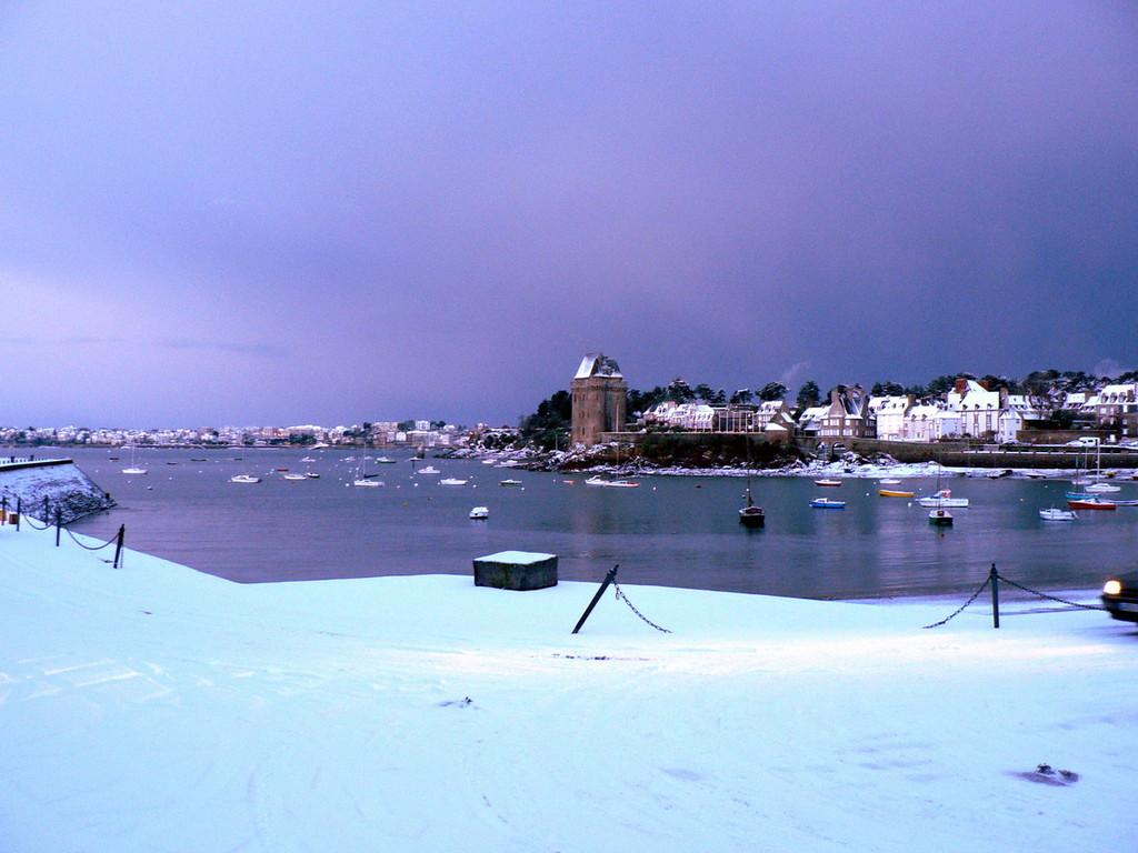 St Malo sous la neige