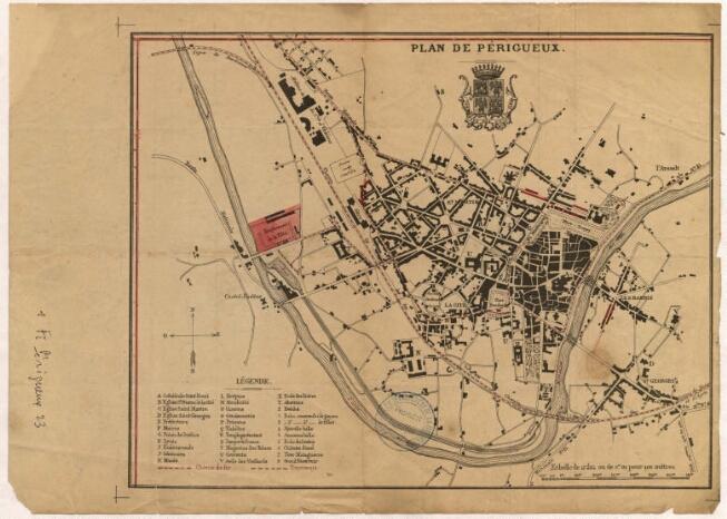 1900-1930 - Fête au Bassin (Emplacement de la Fête derrière la gare, le long de l'Isle)