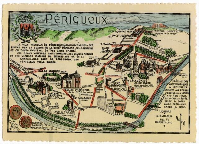 Non datée - Carte postale touristique de la ville- Ed. René.
