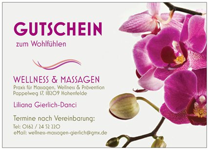 Massage Bad Doberan Rostock Gutschein