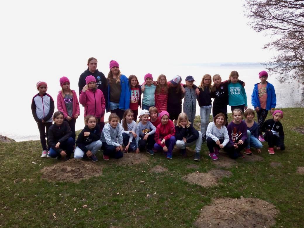 Die Mädchen der 1. und 2. E auf dem Trainingslager in Retgendorf