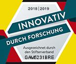 Gampics Consult wurde durch den Stifterverband im Bereich Innovation durch Forschung ausgezeichnet