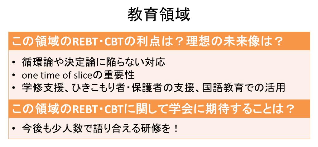 教育領域で活かすREBT・CBT