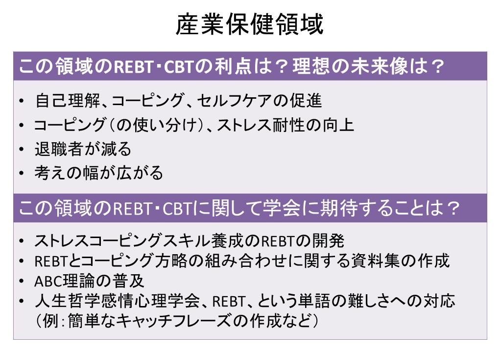 産業保健領域で活かすREBT・CBT