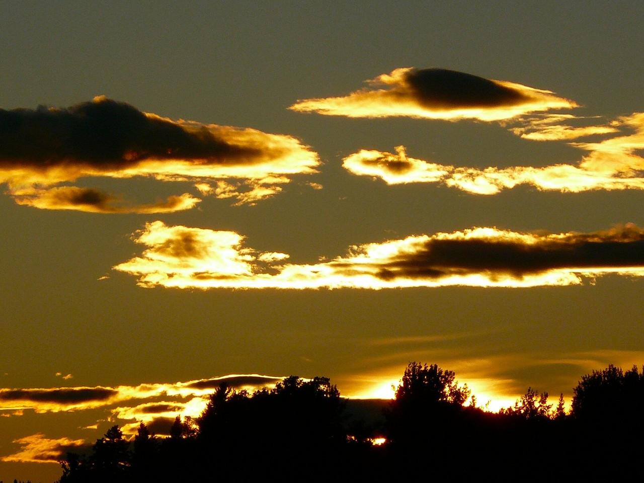<B>Sonnenuntergang in Fort St. James am Stuart Lake