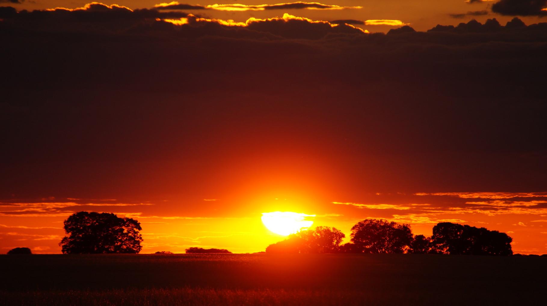 <B>Sonnenuntergang in La Mancha.</B>