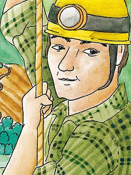 Porträt von Miggi, dem Bergführer