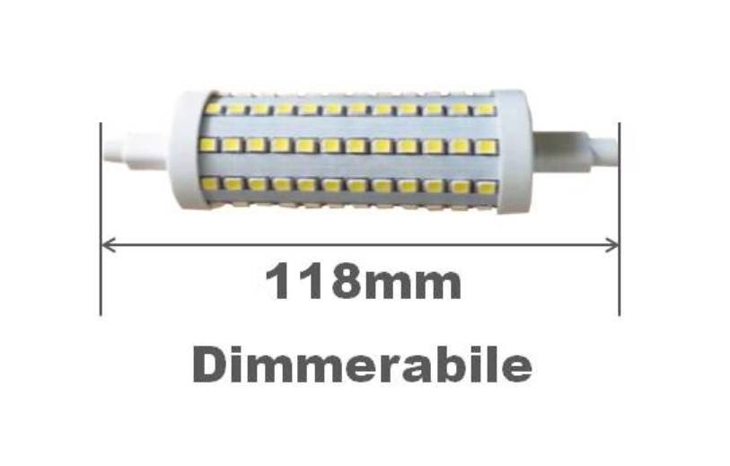 R7s lampada led 12w dimmerabile 118mm for Lampada led r7s 118mm