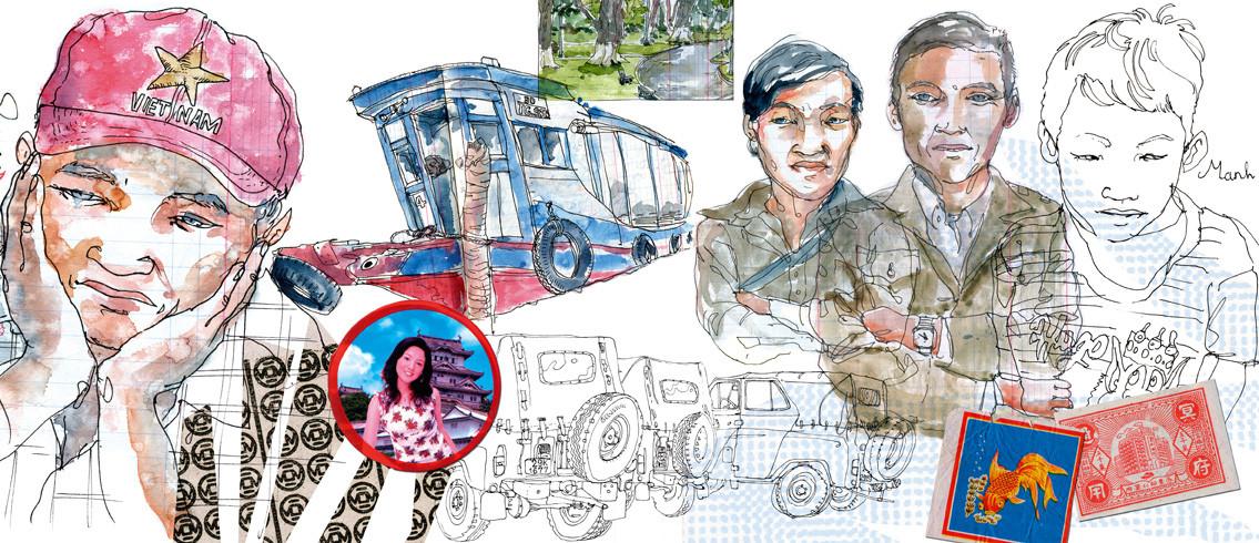 Carnet de voyage de LAPIN , CARNETTISTE, BARCELONE ( Merci à lui) VIETNAM