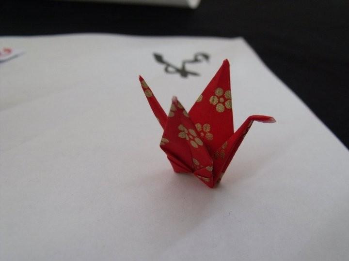 Origami plié pour la biennale de l'Ecriture Puy St Romain ( 42) mai 2011