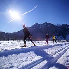 Im Winter Langlaufen
