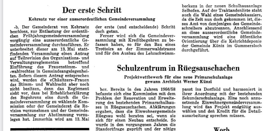1968.04.11 - Der Bund - Ausserordentliche GV