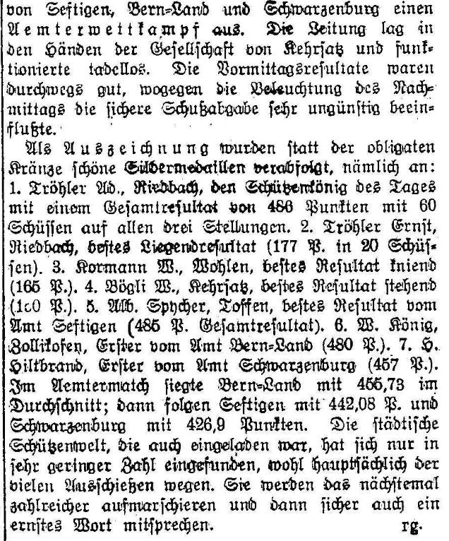 1925.10.08 - Der Bund - 2 Schützen