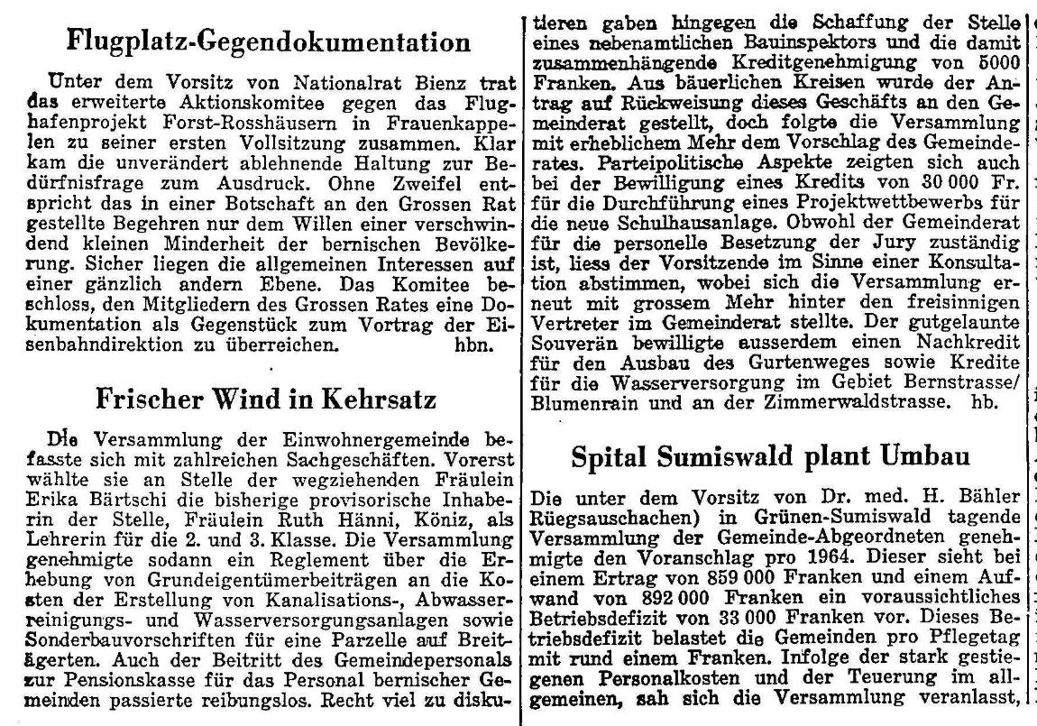 1963.10.25 - Der Bund - Frischer Wind