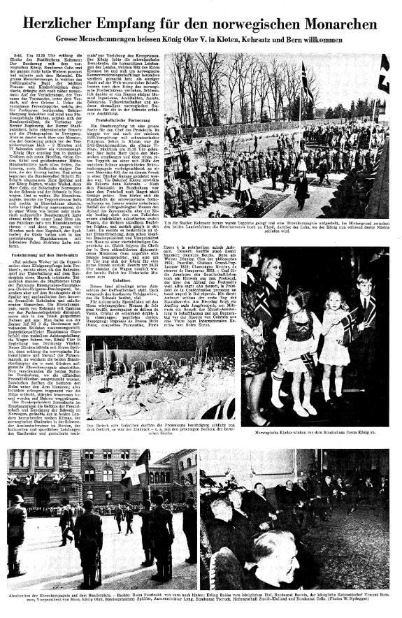 1968.04.02 - Der Bund - Besuch norwegischer König
