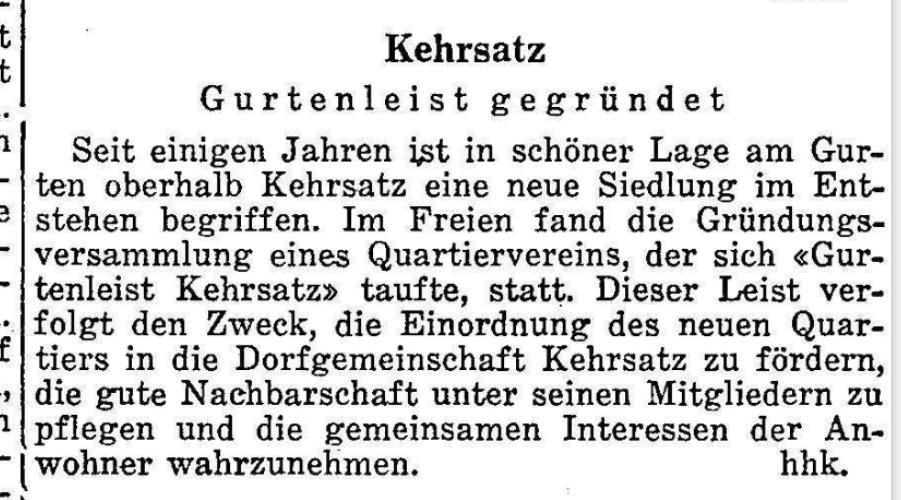1963.06.20 - Der Bund - Gurtenleist gegründet