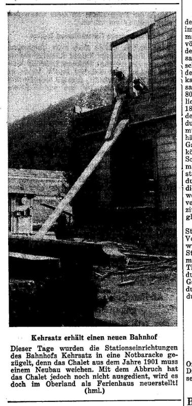 1962.10.31 - Der Bund - Neuer Bahnhof