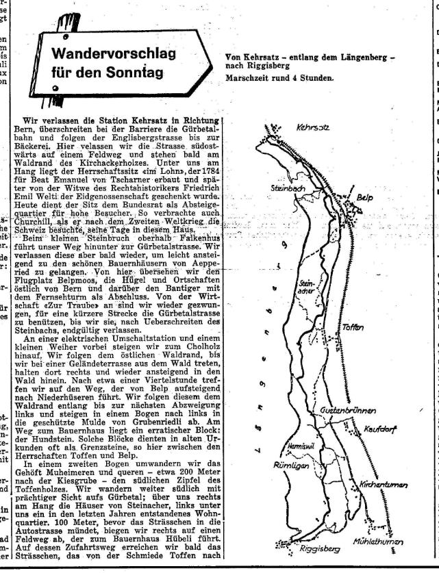 1964.05.22 - Der Bund - Wandervorschlag