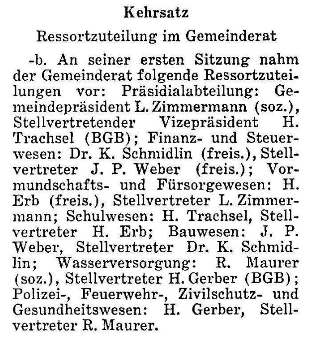 1968.01.17 - Der Bund - Ressortzuteilung