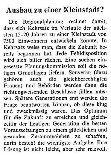 1969.01.24 - Der Bund - Kehrsatz als Kleinstadt