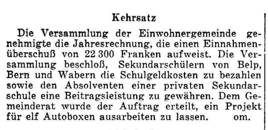 1956.06.01 - Der Bund - Gemeindeversammlung