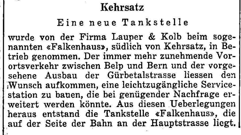 1960.03.07 - Der Bund - Neue Tankstelle