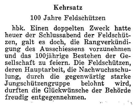 1967.10.27 - Der Bund - 100 Jahre Feldschützen