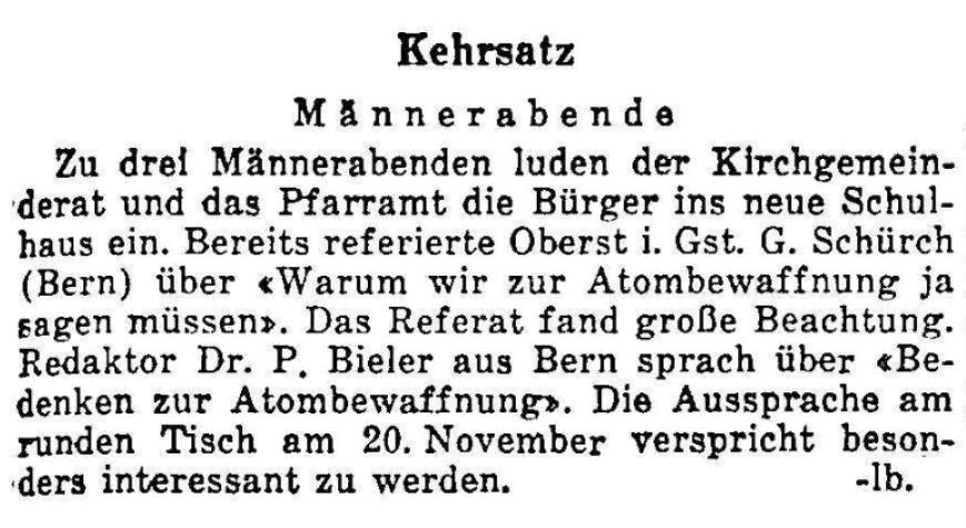 1958.11.16 - Der Bund - Männerabende