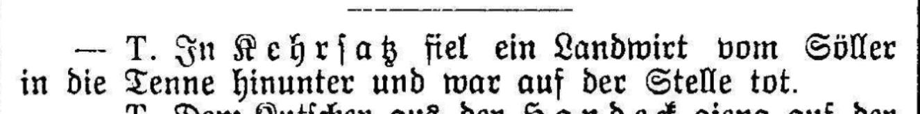 1896.07.09 - Der Bund - Unfall
