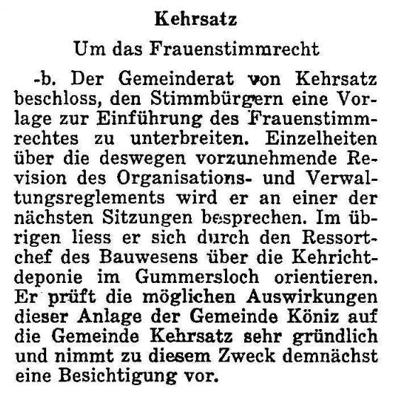 1968.03.29 - Der Bund - Frauenstimmrecht