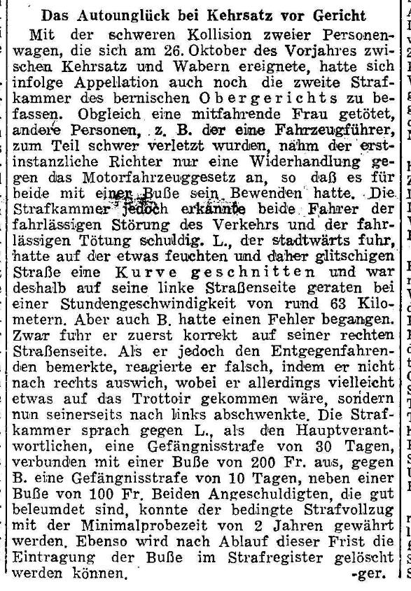 1953.10.27 - Der Bund - Gerichtsfall
