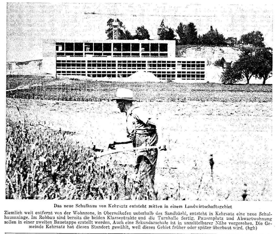 1968.08.01 - Der Bund - Bau Schulanlage Selhofen
