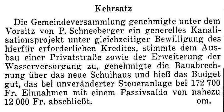 1956.02.06 - Der Bund - Gemeindeversammlung