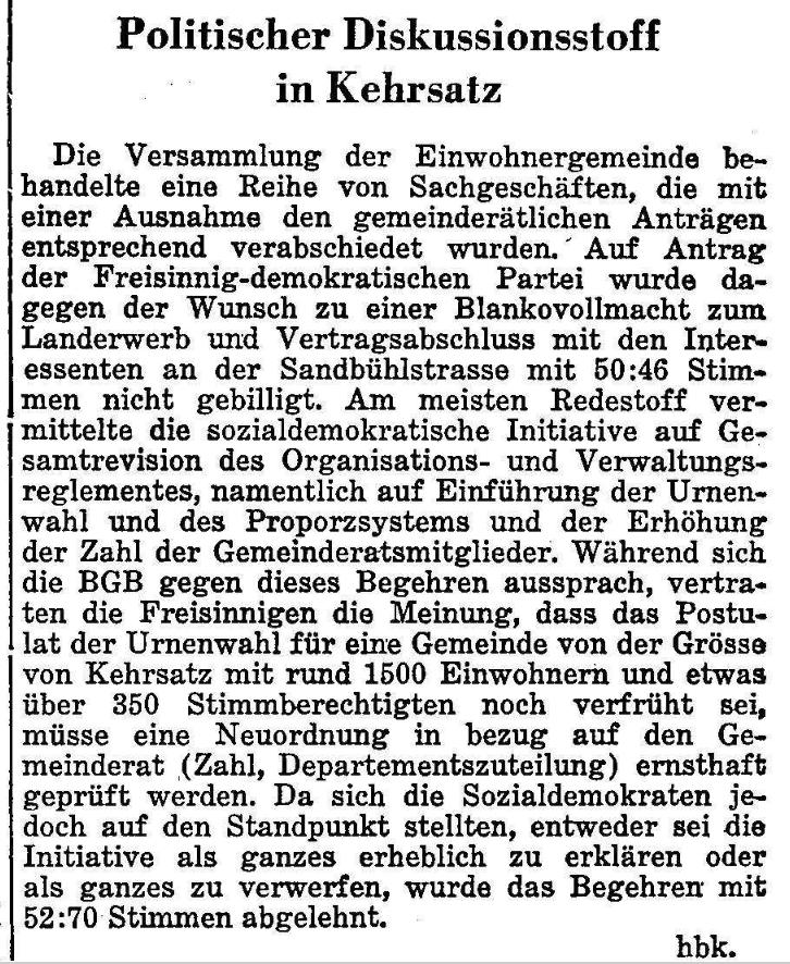 1964.05.14 - Der Bund - Diskussion