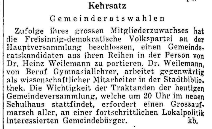1959.12.28 - Der Bund - Gemeindeversammlung