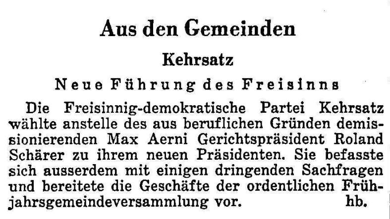 1963.05.03 - Der Bund - Aus den Gemeinden