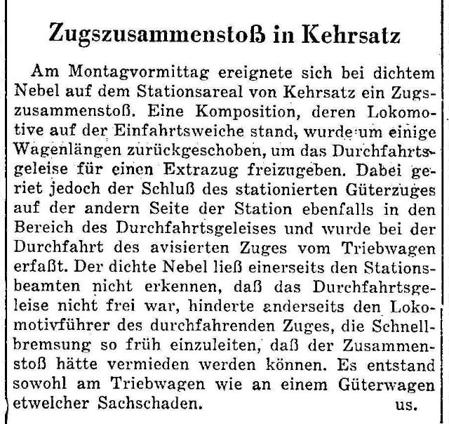 1955.12.06 - Der Bund - Zugsunglück